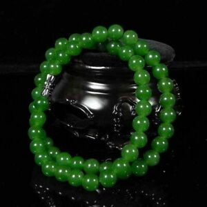"""Natural 18"""" Beautiful Women New  10mm necklace Green Jade Jade Necklaces"""