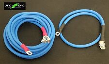Battery Relocation Kit, # 2 Awg Welding Cable, Top Post 12' BLUE / 3' BLUE SAE