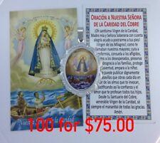 100 Caridad Del Cobre Medalla Con Estampas Lady Of Charity Medal Prayer