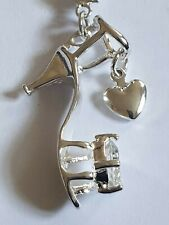 Silver plated Shoe Pendant On Chain