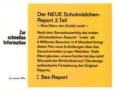 Schulmädchen-Report 2. Teil ORIGINAL Aushangfoto des deutschen Erotik-Klassikers