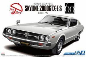 AOSHIMA 05351 1/24th SCALE NISSAN SKYLINE 2000GTX 1976 PLASTIC MODEL CAR KIT