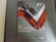 2011 SINGAPORE PROGRAMME 25/9/11 - F1 SINGAPORE GRAND PRIX - FORMULA 1
