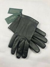 £195 Mulberry Leather Gloves, Mulberry Mens Navy Blue Gloves, Cashmere Lined 8,5