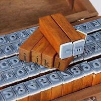 70er Stempel set box Holz stempelset Alphabet Buchstaben Letters als Geschenk