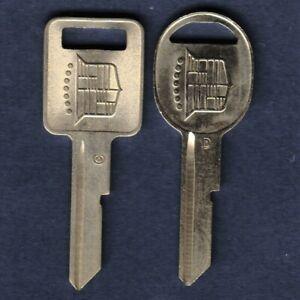 CADILLAC KEY BLANK 1968 1972 1976 1980 1987 88 1989 CLASSIC SINGLE CREST LOGO