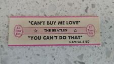 Vintage Jukebox Title Strips The Beatles Can't Buy Me Love / You Can't Do That