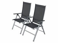 Klappsessel Gartenstuhl Aluminium Grau 2er Set FLORABEST B-Ware einwandfrei