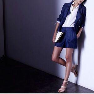 Ann Taylor - Woman's Size 0 (XS) Blue Chambray Drapey Shorts $59.00 (S2)