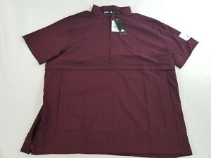 new ADIDAS Golf men jacket top GameMode 1/4 SS DX9782 122887672 maroon sz XL $60