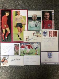 1966 England Signed Autographs x 12