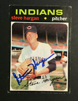Steve Hargan Indians signed 1971 Topps baseball card #375 Auto Autograph