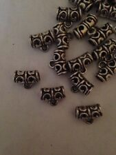20 12x5mm Spacer Beads W/Loop For Charms Bali Style Pewter L@@K #106