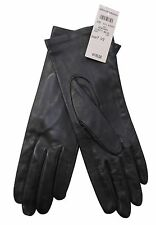 BERGDORF GOODMAN Black Butter Leather Gloves, NEW WITH TAGS, size 7 1/2