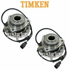 For Buick Chevy GMC Saab Pair Set of Front Wheel Bearings Hubs Assies Timken