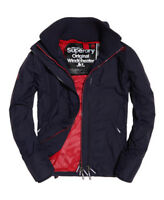 SUPERDRY MENS WINDCHEATER JACKET CHARCOAL MESH LINED COAT SMALL