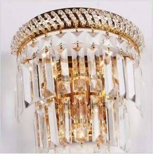 Modern Crystal Wall Lights Sconce Bedside Aisle light Fixtures Lighting Decor