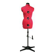 Adjustable 8-Part Dressmaking Dummy UK 16-20 Red Polka Dot | Adjustoform 5904B