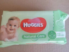 HUGGIES Natural Care Baby Wipes 56ct  with Aloe Vera and Resealable Tape Top