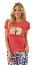 Jockey USA Originals Womens Luxury Pyjama T-Shirt Nightwear (XS) Pink