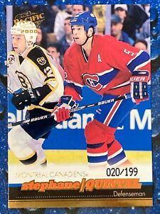 1999-00 Pacific Gold Stephane Quintal #208 020/199