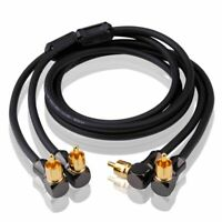 Audio Cable 2 Angle RCA to 2 Angle RCA DVD Speaker Sub Amplifier OFC RCA Cable