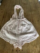 Fabulous SOMEDAYS LOVIN Very Pale Pink Cheesecloth Halterneck PLAYSUIT Shorts XS