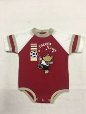 Cradle Togs - Infant One Piece - 3/6 mos. Soccer Player - Red - EUC