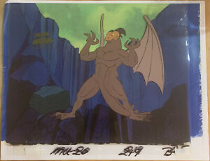 he-man masters of the universe dragoon animation cel and copy background