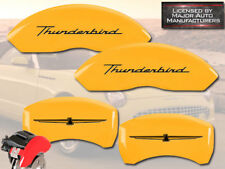 "2002-2005 Ford ""Thunderbird"" Front + Rear Yellow MGP Brake Disc Caliper Covers"