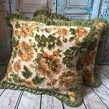 🌸🌼Vintage Retro  60s 70s Pair Of Cushions Covers Camper Van Vw Floral Cottage