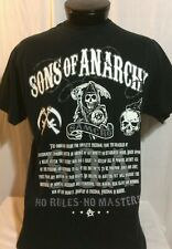 Sons of Anarchy Black No Rules No Masters T-Shirt XL
