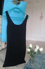 Robe noire droite/moulante dentelle doublée Pimkie Ts/m neuve