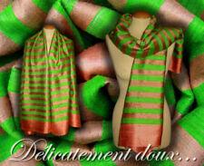 Écharpes et châles verts en soie pour femme
