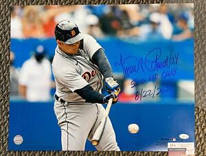 Miguel Cabrera signed 16x20 Photo actual 500hr swing JSA Fanatics Detroit Tigers