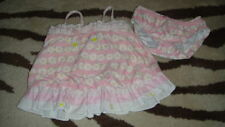 BOUTIQUE KATE MACK 9M 9 MONTHS PINK FLORAL 2PC SWIMSUIT