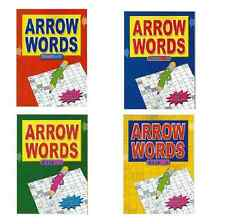 ARROW WORD GENERAL KNOWLEDGE ADULT CROSSWORDS 67 PUZZLES IN EACH A4 BOOK wf 3215