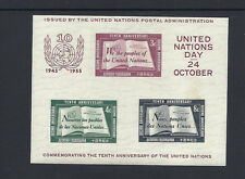 UNITED NATIONS 1955 Human rights sheet (Scott C38) VF MNH