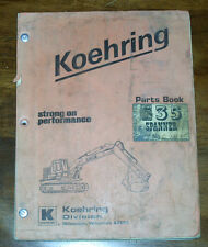 KOEHRING 535 SPANNER PARTS MANUAL