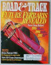 ROAD & TRACK VINTAGE CAR MAGAZINE 1994 MARCH FERRARI 348 F130 TESTAROSSA