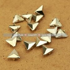200pcs 12mm Silver Triangle Rivet Spike Punk Bag Belt Leathercraft DIY Rivets