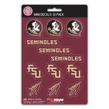 Florida State University Seminoles - Set Of 12 Sticker Sheet