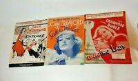 Joan Crawford Sheet Music Lot of 3 Untamed Sadie McKee Dancing Lady Movies