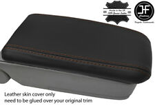 BROWN STITCH REAL LEATHER ARMREST LID COVER FITS SUBARU FORESTER SG9 2006-2008