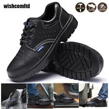 Womens Safety Steel Toe Boot Lightweight Trainers Shoes Lace Work Hiking Sneaker