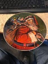 1987 Avon Christmas Plate-The Magic That Santa Brings-Trimmed 22K Gold
