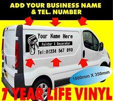 2 x Custom Van Graphics KIT Self Adhesive PAINTER & DECORATOR Sticker Viny Signs