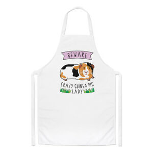 Beware Crazy Guinea Pig Lady Chefs Apron - Funny Animal Cooking