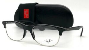 Ray Ban RX4319V 2000 Black Silver 55mm Eyeglasses