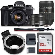 Canon EOS M5 Mirrorless Digital Camera (Black) Bundle w/ (2) Lenses